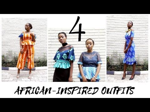 4 African-inspired Outfits | Friends in Fashion - YouTube