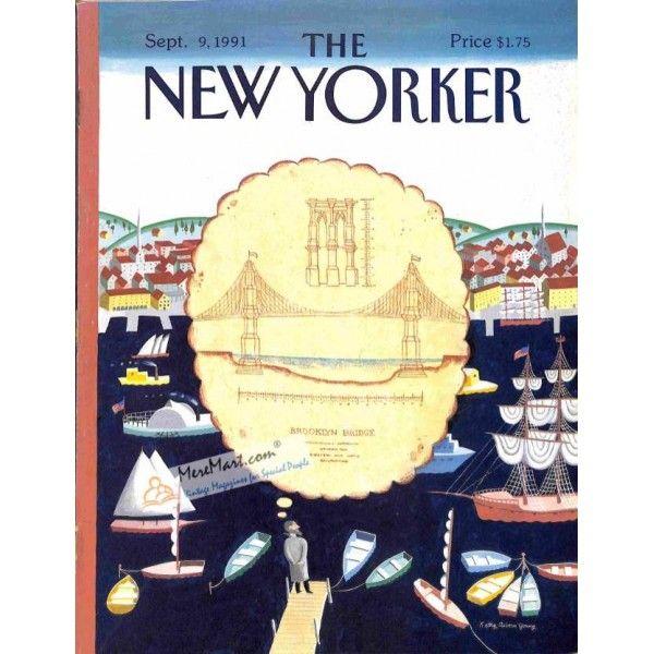 Cover Print of New Yorker, September 9 1991   $6.60