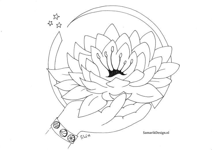 Kleurplaat voor volwassenen. Lotus