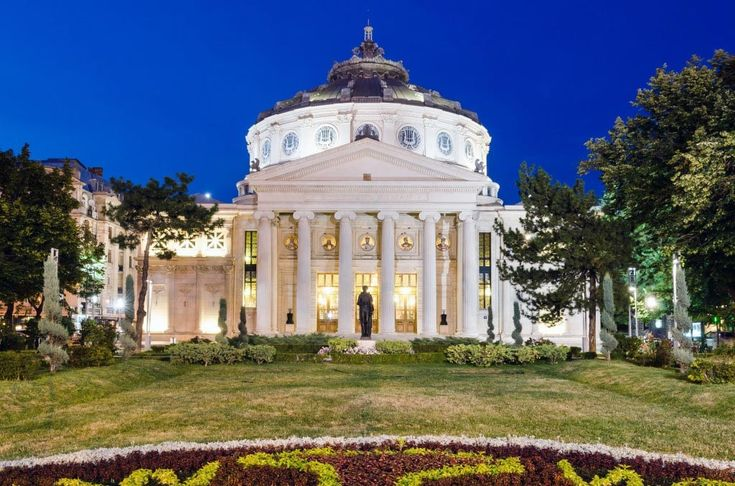 The Romanian Atheneum in Bucharest, Romania.