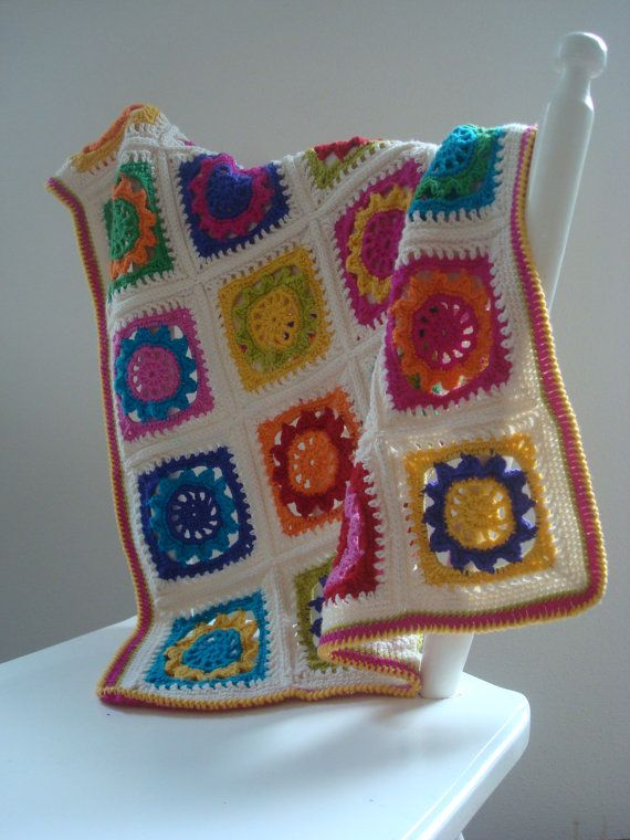 Beautiful Crochet Baby Blanket  custom made to order by makelij, €35.00