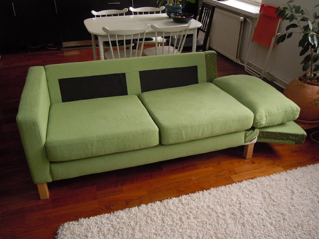 Make your own sofa bed from an ikea karlstad furniture for Build your own sectional sleeper sofa