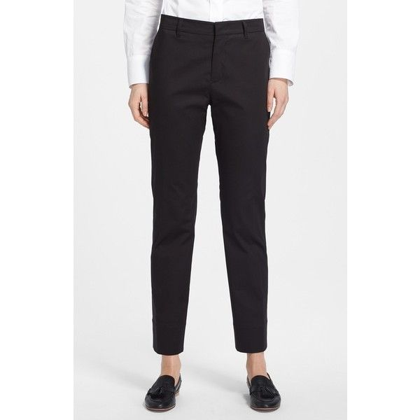 Creative Vince Camuto Straight Leg Pants In Black  Lyst