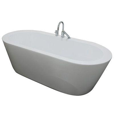 "A&E Bath and Shower Una 71"" x 34"" Freestanding Bathtub"