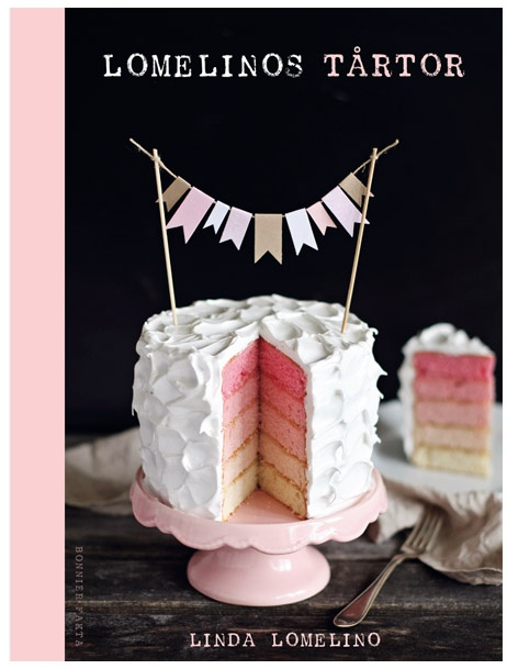 Layered cake with bunting