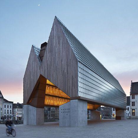 Market Hall by Robbrecht en Daem and Marie-José Van Hee: http://www.dezeen.com/2013/04/19/market-hall-by-robbrecht-en-daem-architecten-and-marie-jose-van-hee-architecten/