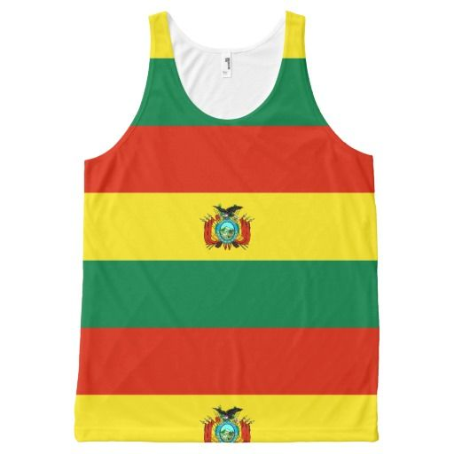 Flag of Bolivia All-Over Print Tank Top