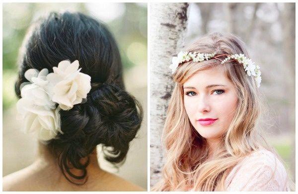 Risultati immagini per acconciatura romantica fiore