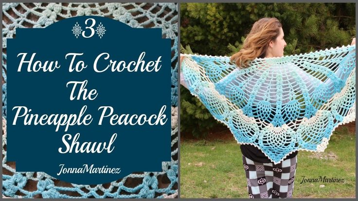 Pineapple Peacock Shawl (PART 3)