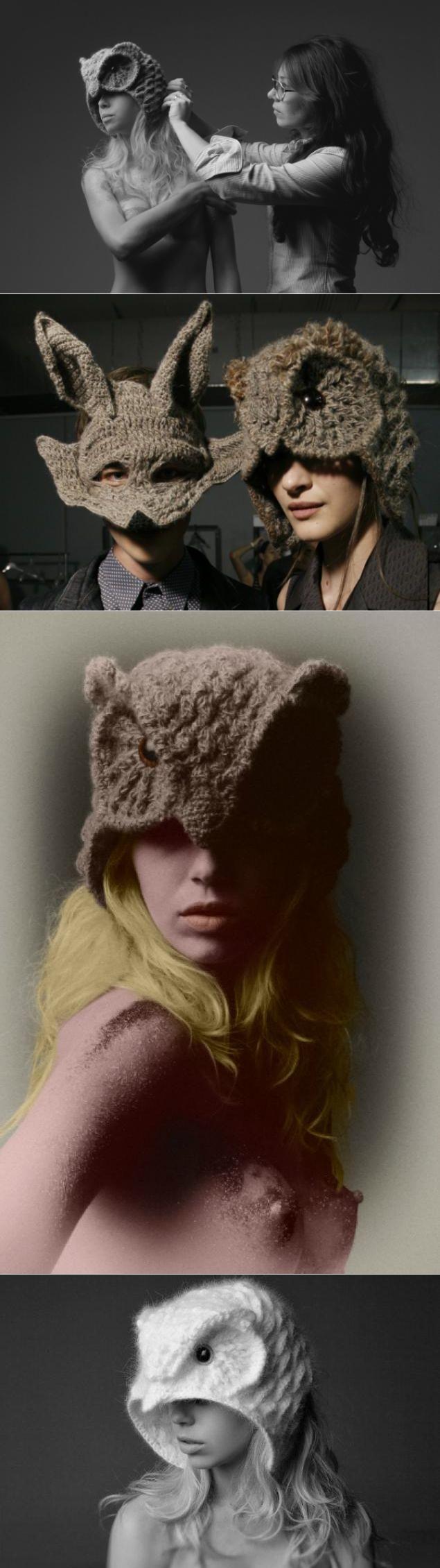 Cap-coruja roupas de malha de designer de Helen RDEL - Masters Fair - handmade, handmade