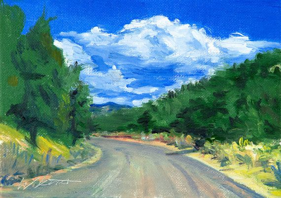 """Contemporary Impressionist Painting road trip 