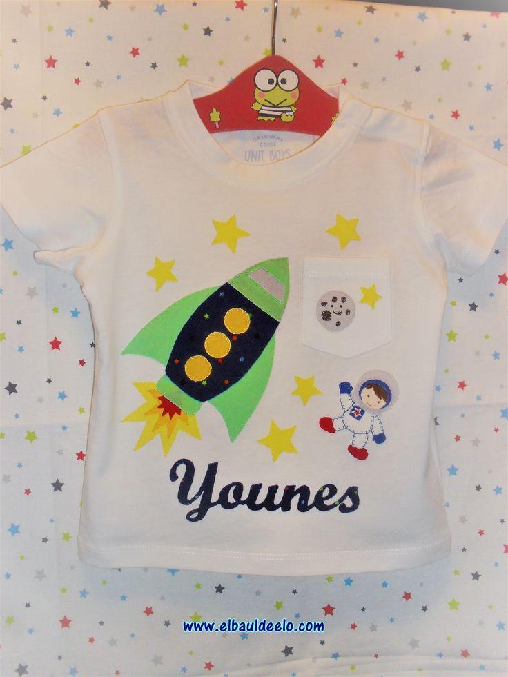 www.elbauldeelo.com camiseta cohete niño astronauta