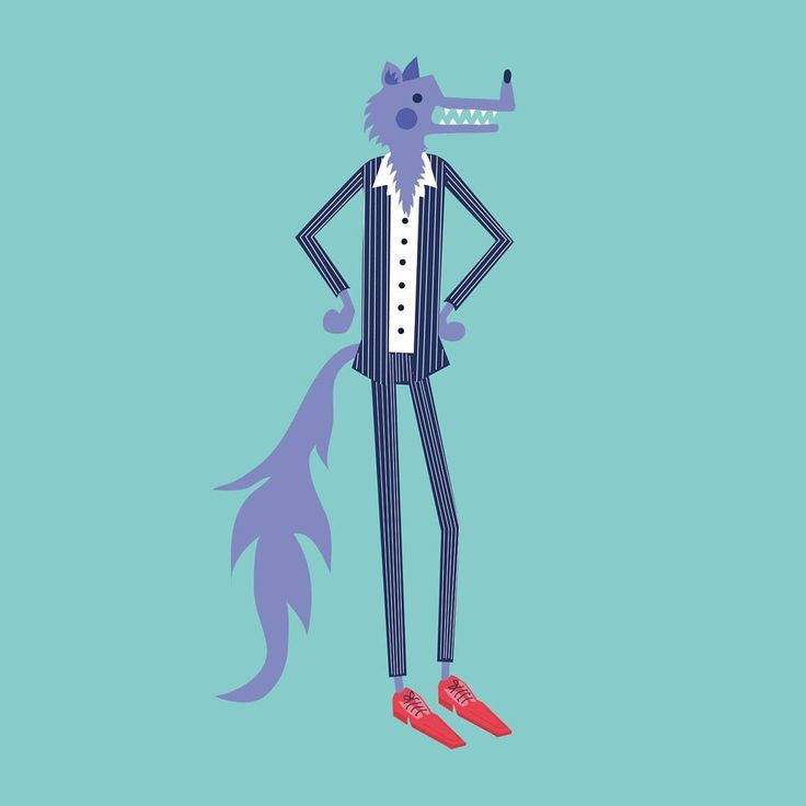 Throw back to one of my character designs for my degree project a few years ago. This is inspiring me to work on some new fairytale prints   .  .  .  #bigbadwolf #wolf #suitup #suit #fairytale #illustration #illustrator #drawing #characterdesign #artist #character #tbt #throwback #lisamchugo