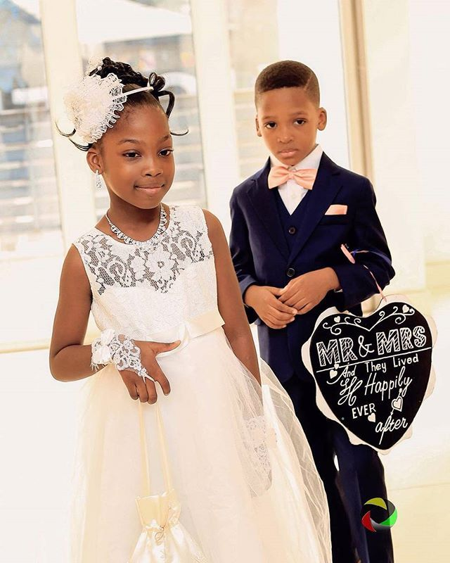 These Little Ones Are Beautiful Sight For Sour Eyes Carine Gerald S Wedding Wedding Dress And Accessories On Point For Littl Flower Girl Dresses Bridal Bride