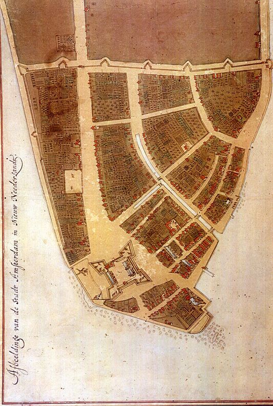 1660: earliest known map of Manhattan.