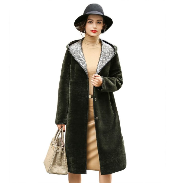 2017 New Both Sides Real Leather Coats Womens Genuine Sheep Leather Parka with Hoody Winter Long Hooded Overcoats LX00909 ** AliExpress Affiliate's buyable pin. Item can be found  on www.aliexpress.com by clicking the image