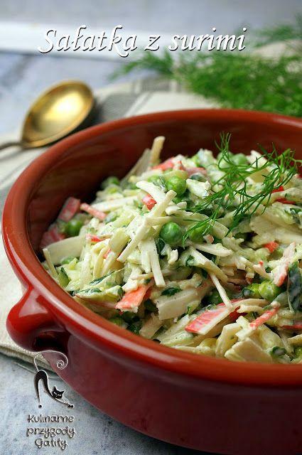 Kulinarne przygody Gatity - przepisy pełne smaku: Sałatka z paluszkami surimi i czosnkiem