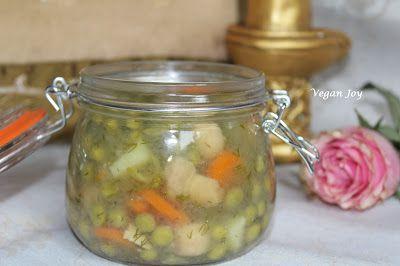 vegan joy: Jellied vegetables with tapioca