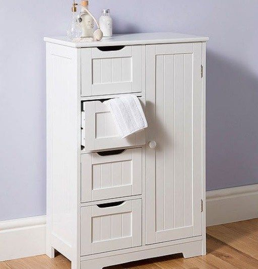 25 best ideas about discount bathrooms on pinterest - Small free standing bathroom cabinets ...