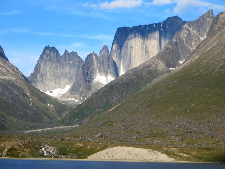 The Big Wall of Mount Nalumasortoq (2,045 meters) closes a valley off the east side of Tasermiut Fjord in Southern Greenland. It was first climbed in 1974.