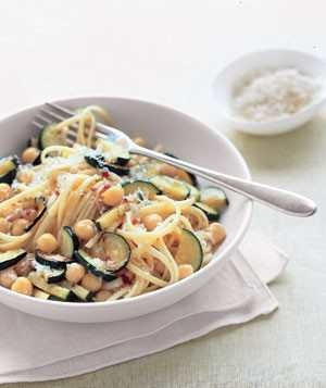 Linguine With Chickpeas And Zucchini!