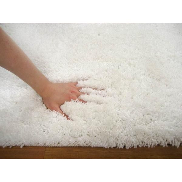 Shag Rugs | Texture Round Shag Off Rug White 90x90cm | Shag Pile | Great Gifts at ...
