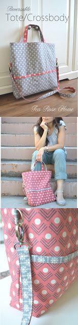 Tea Rose Home: ModeS Fabric Review ~ Reversible Tote/Crossbody Bag Tutorial