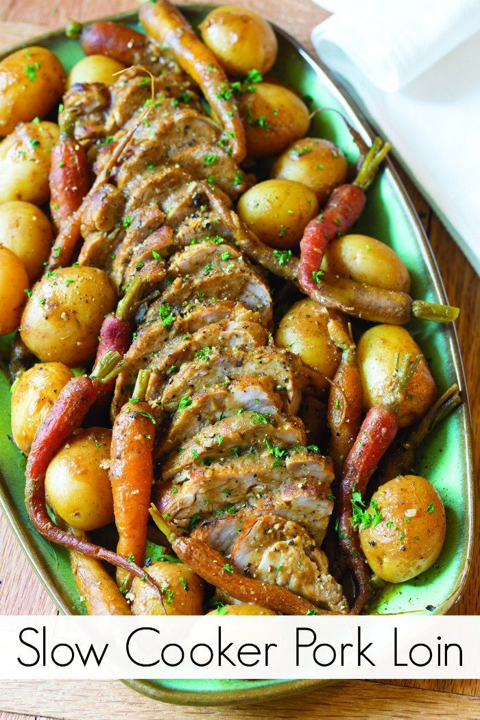 Slow Cooker Pork Loin Recipe with Vegetables - Perfect Fall Dinner with your Crockpot