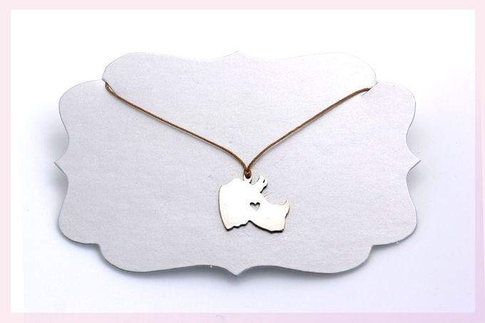Rhino Necklace by Janine Binneman Jewellery Design on hellopretty.co.za