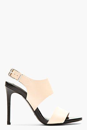 ACNE STUDIOS Peach Leather Heels