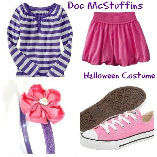 My 3yr old wants to be Disney's Doc McStuffins this year for Halloween, but the costume is not out yet:(  The following link is a great idea to help me create the costume for my daughter!  http://www.doubledutydivas.com/2012/09/doc-mcstuffins-halloween-costume/