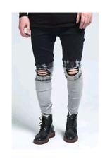 Sik silk Jeans.. Mens.. Drop Crotch Skinny.. Rrp £95.. Ripped 32 tie dye