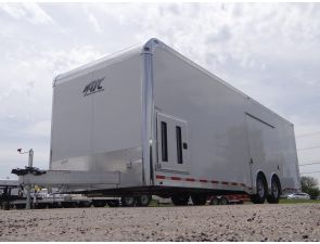 Polar White 28' Enclosed Car Hauler. This Outstanding Car Hauler Features Aluminum Wheels, Tpo Black Coin Flooring, Screwless Aluminum Walls and Ceiling, and 7' Interior Height. $27,895 Any applicable fees and taxes are extra. Ref # E204753 | Advantage Trailers and Hitches