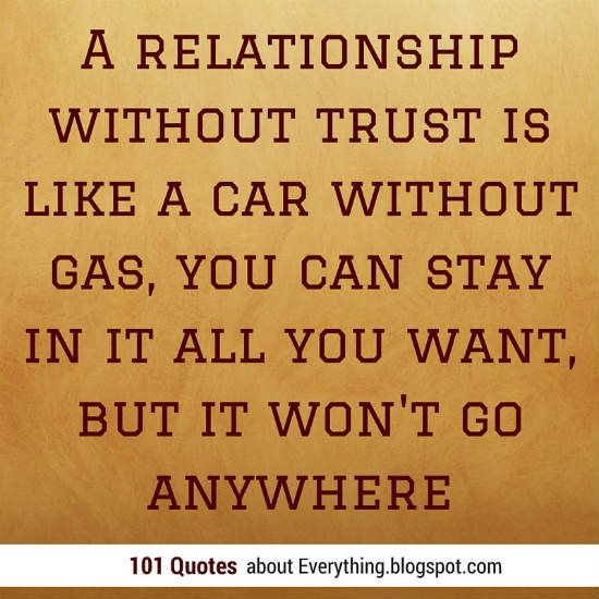 relationship is all about trust quotes pictures