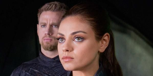 'Jupiter Ascending' starring Channing Tatum and Mila Kunis has a ridiculous plot but is entertaining anyway.  http://www.examiner.com/review/jupiter-ascending-movie-review-1