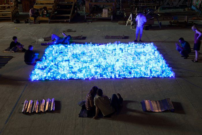 Luzinterruptus Create Illuminated Swimming Pool Sculpture From Recycled Containers | Inhabitat - Sustainable Design Innovation, Eco Architecture, Green Building