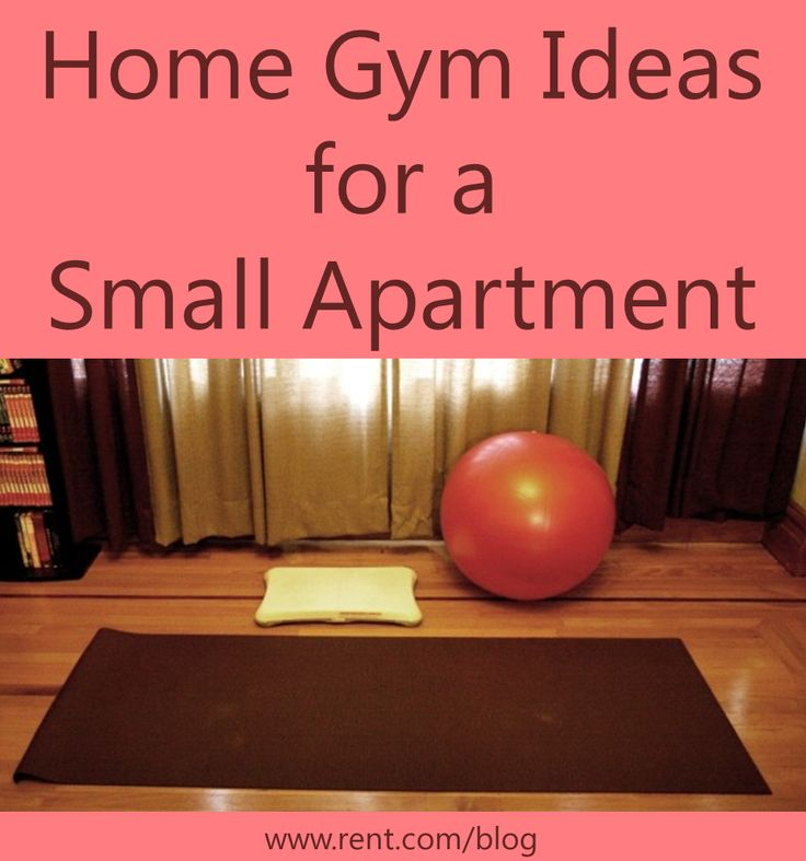 Home gym ideas for a small apartment and healthy