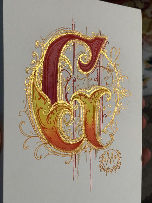 Illuminated G and O on Behance   Calligraphy art ...