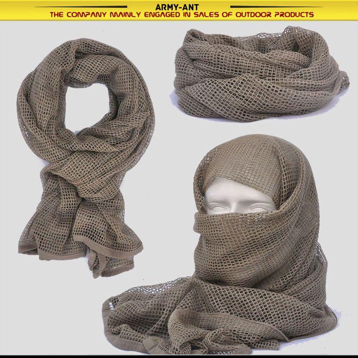 Color Caqui/Bronceado táctico de algodón cubierta de malla Bufanda Envolvente Cara Máscara Shemagh Francotirador Velo | Objetos de colección, Objetos militares, Excedentes | eBay!