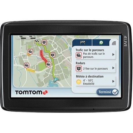 TomTom's Go 825 Live gives you accurate traffic information updates every two minutes. Your device receives real-time mobile speed camera locations, including reports from other users. You also get speeding alerts and can access weather forecasts. Other features include frequent destinations, eco routes and hands-free calling.