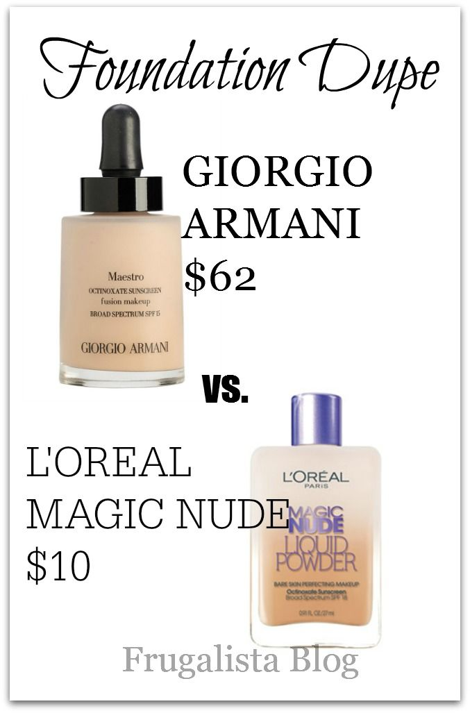 Foundation dupe #makeup L'Oreal vs Giorgio Armani
