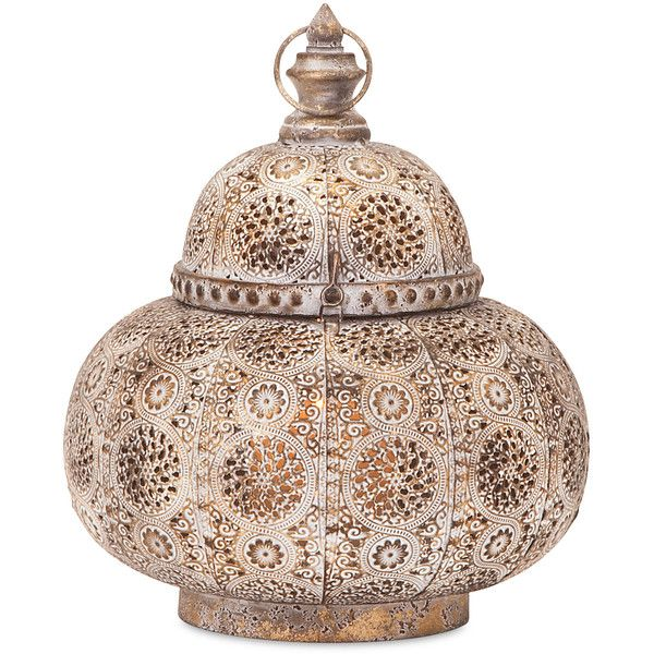Rasa Pierced Small Lantern found on Polyvore featuring home, home decor, candles & candleholders, inspirational home decor, pierced lantern and pierced candle holder