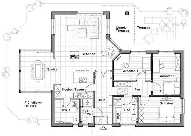 Pin Von Angelika Sz Auf Bungalow: Bungalow Mit Loftcharakter – Von Viebrockhaus