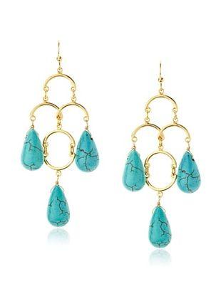54% OFF Helene Turquoise Open Link Chandelier Earrings