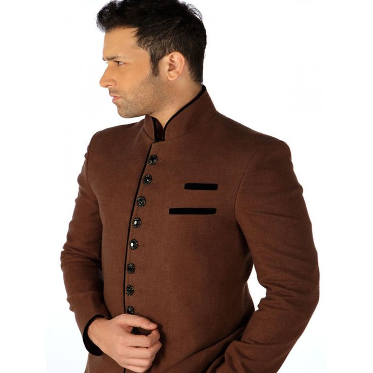 Men Designer Wedding Groom Indowestern Dinner Casual Suit Coat ...