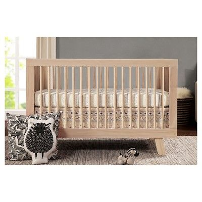 Babyletto Hudson 3-in-1 Convertible Crib with Toddler Rail, Washed Natural
