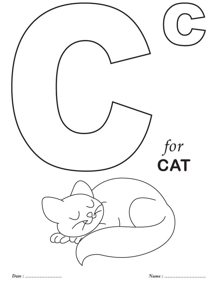 printable c for cat coloring pages alphabet