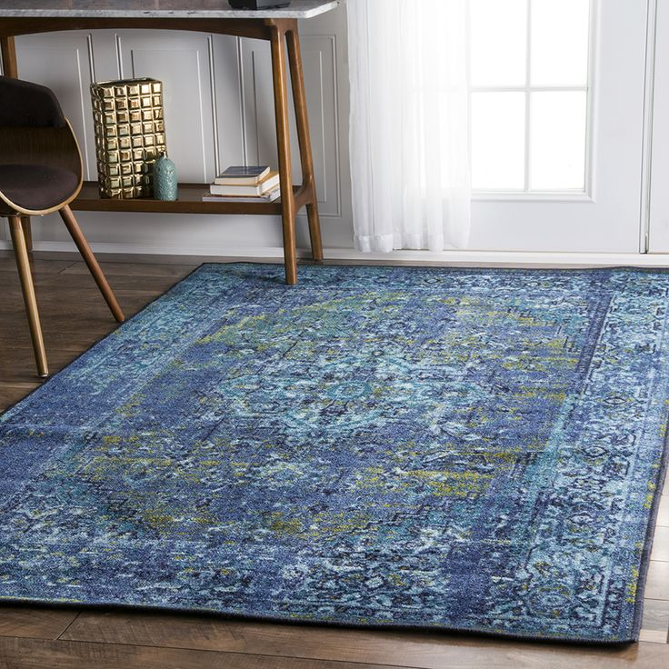 Saturated blue greatness! Shop with Rugs USA for breathtaking vintage designs and truly affordable prices with savings up to 70% off!