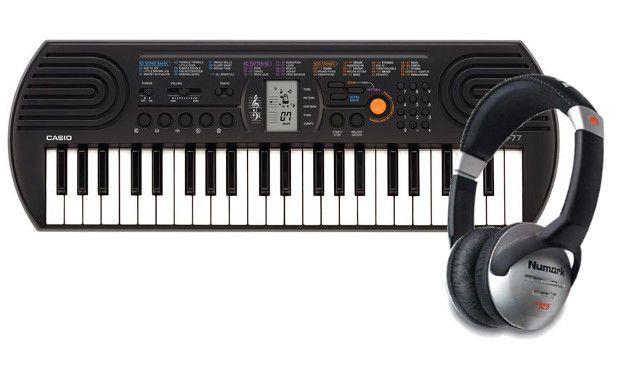 Mini Keyboard Casio SA-77 + Słuchawki Numark HF125   Instrumenty muzyczne \ Instrumenty klawiszowe \ Keyboardy PREZENTY \ Dla Dziecka   Sprzet-Dyskotekowy.pl - największy i najtańszy sklep internetowy z oświetleniem i nagłośnieniem w Polsce