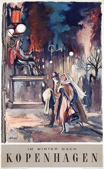 Poster by Baaring Maggi - Im Winter nach Kopenhagen